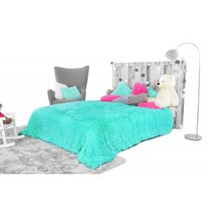 Luxusná plyšová deka tyrkysovej farby