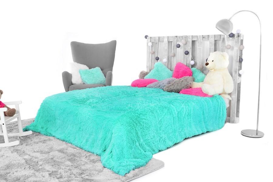 DomTextilu Luxusná plyšová deka tyrkysovej farby 150 x 200 cm 9879