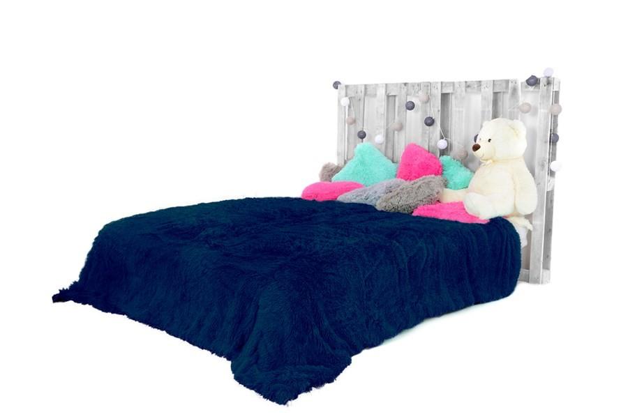 DomTextilu Chlpaté plyšové deky tmavo modrej farby 150 x 200 cm 9880