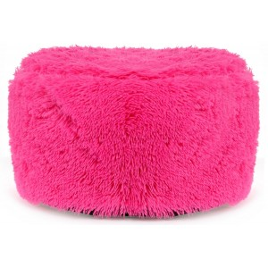 Chlpatá taburetka tmavo ružovej farby