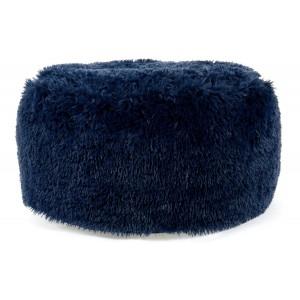 Tmavo modrá nafukovacia taburetka do obývačky