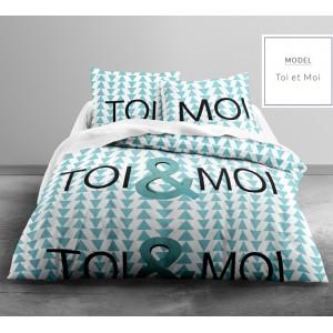Kvalitné tyrkysové posteľné obliečky so vzorom