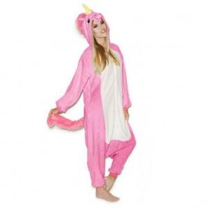 Ružové pyžamové overaly kigurumi pegaz