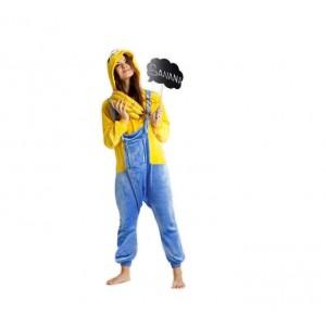 Modro žlté overaly kigurumi s motívom MINIONS