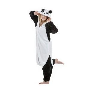 Čierno biely kigurumi overal s motívom pandy