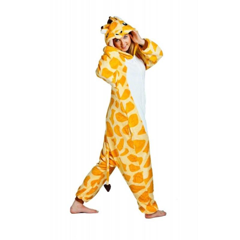 5747f4cfb Kigurumi overal na spanie žltej farby s motívom žirafy - domtextilu.sk