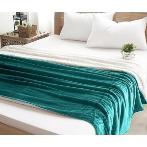Kvalitná teplá deka zelenej farby