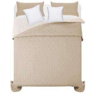 Béžový prešivaný prehoz na manželskú posteľ