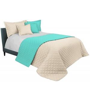 Mentolovo béžový prehoz na manželskú posteľ