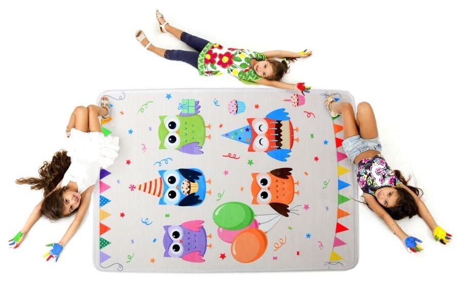 DomTextilu Svetlý detský koberec s obrázkami 140 x 200 cm 10098