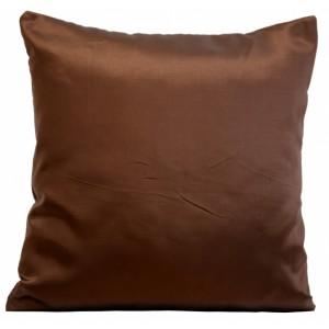 Luxusná obliečka na vankúš čokoladovo hnedej farby