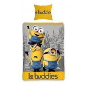 Sivo žlté posteľné obliečky Mimoni