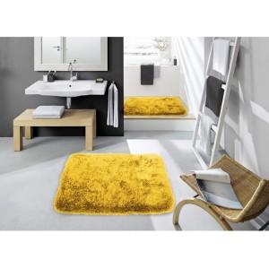 Tmavo žltá kúpeľnová predložka