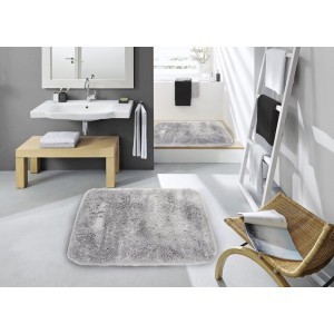 Kúpeľňový koberček svetlo sivej farby 50 x 70 cm