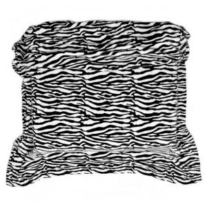 Čierno biela deka z mikrovlákna so vzorom zebra