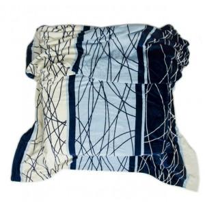Teplá modrá deka s pásikmi