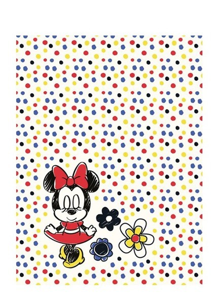 DomTextilu Bodkovaná detská deka s myškou Minnie Šírka: 75 cm   Dĺžka: 100 cm 10167-28135