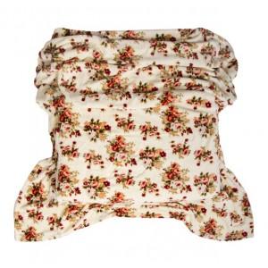 Krémová deka s kvetinovým vzorom