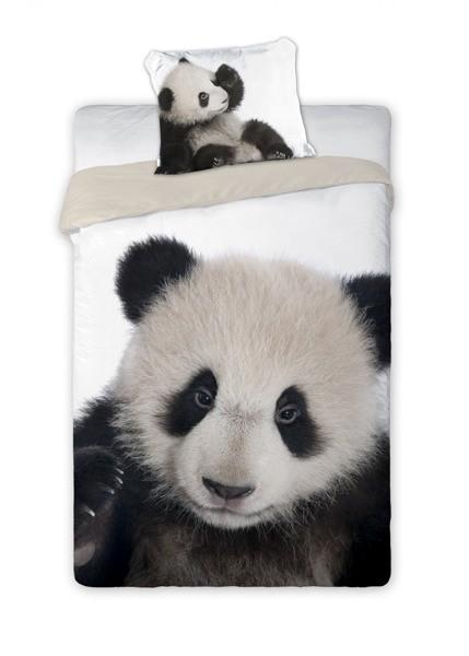 DomTextilu Kvalitné detské posteľné obliečky s motívom pandy Biela 10246-28338