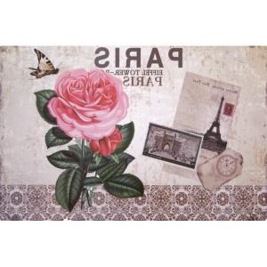 Béžové prestieranie na stôl s motívom ruže