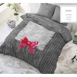 Luxusné bavlnené posteľné obliečky z bavlny s romantickým motívom 140 x 200 cm