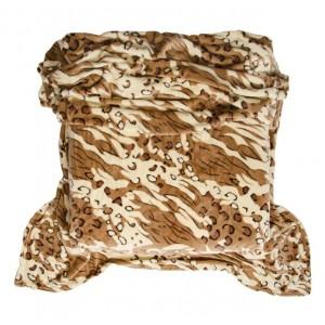 Teplá hnedá deka so zvieracím motívom