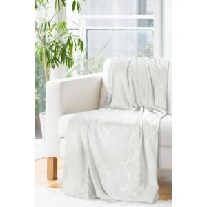 Dekoračné deky a prikrývky béžovej farby so vzorom