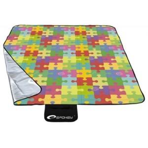 Pikniková deka s farebným motívom puzzle