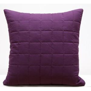 Tmavo fialové prešívané obliečky na vankúš