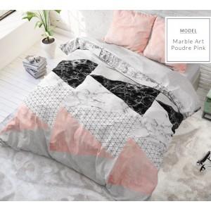 Sivo ružové posteľné obliečky s moderným vzorom