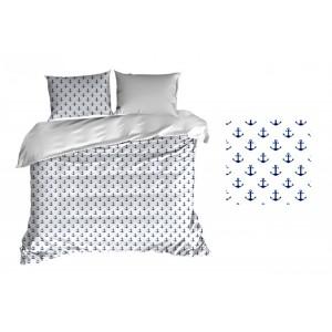 Bavlnené obliečky bielej farby s námorníckym motívom