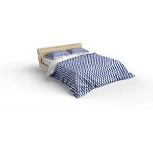 Luxusné obliečky bielo modrej farby s cik cak vzorom