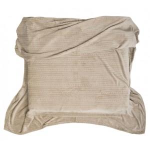 Luxusné deky béžové z mikrovlákna