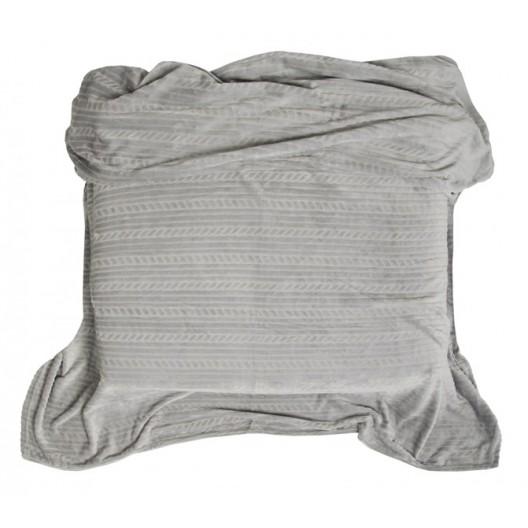 Deky na postel svetlo sivé s potlačou