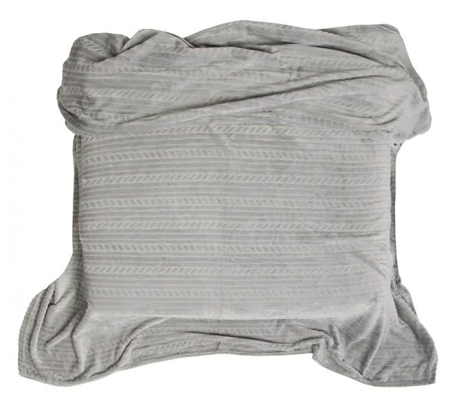 DomTextilu Deky na postel svetlo sivé s potlačou 10469-28784 160 x 200 cm Bez motívu Sivá