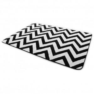 Veľké kusové koberce v čierno bielej farbe 200 x 300 cm