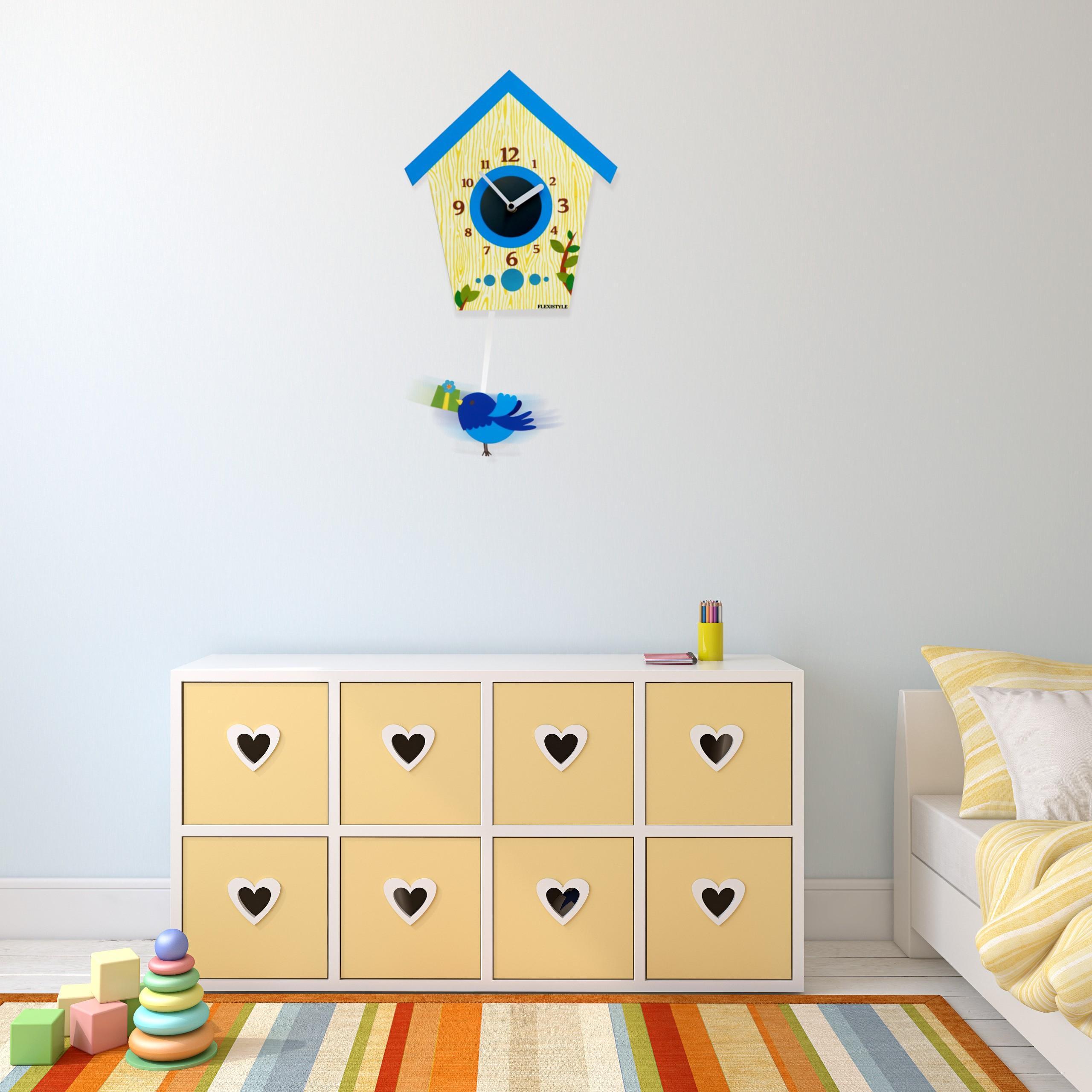 DomTextilu Dekoračné hodiny na stenu do detskej izby 10584