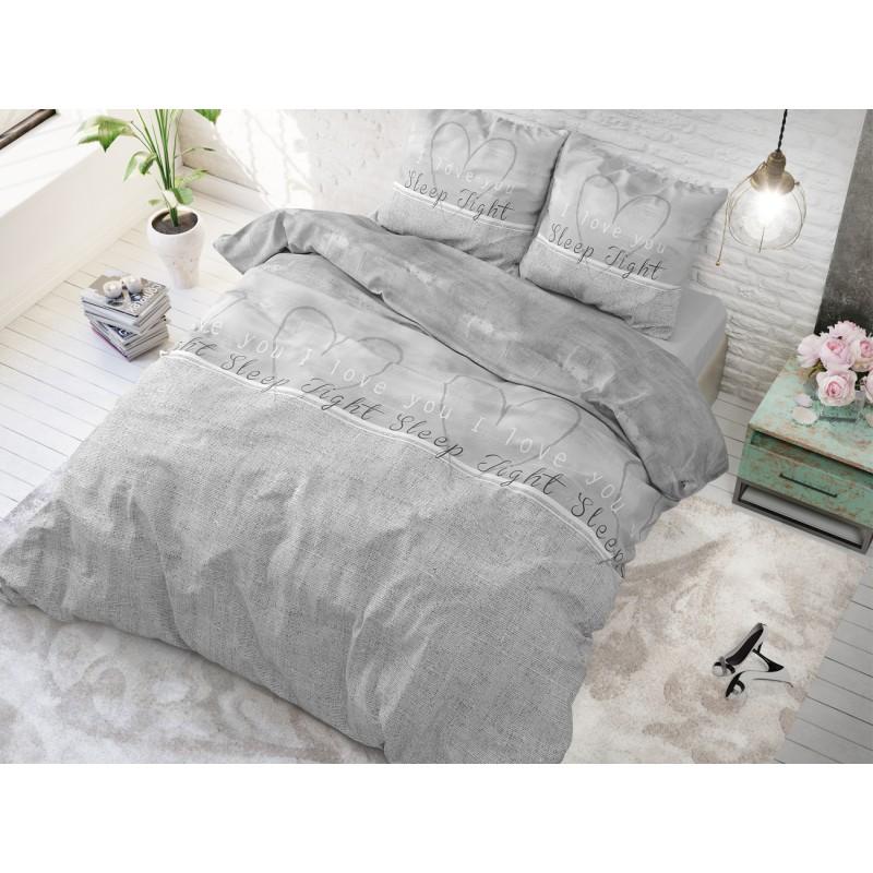 444fa66bb Romantické posteľné obliečky s nápismi a srdiečkami | Domtextilu.sk