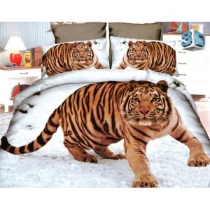 Biele obliečky na periny tiger