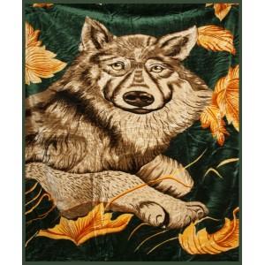Akrylové deky tmavo zelenej farby s motívom zvierat