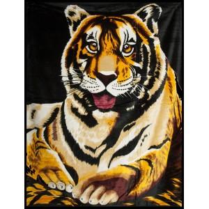 Hnedá deka s tigrom