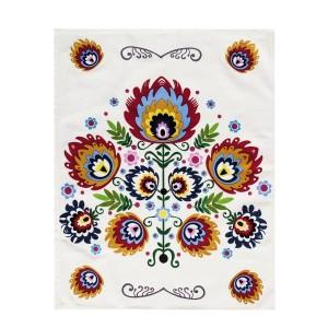 Bavlnené utierky na riad s farebnými kvetmi