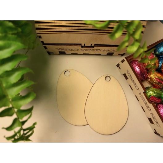 Dekorácie z dreva v tvare vajíčok v originálnej krabičke