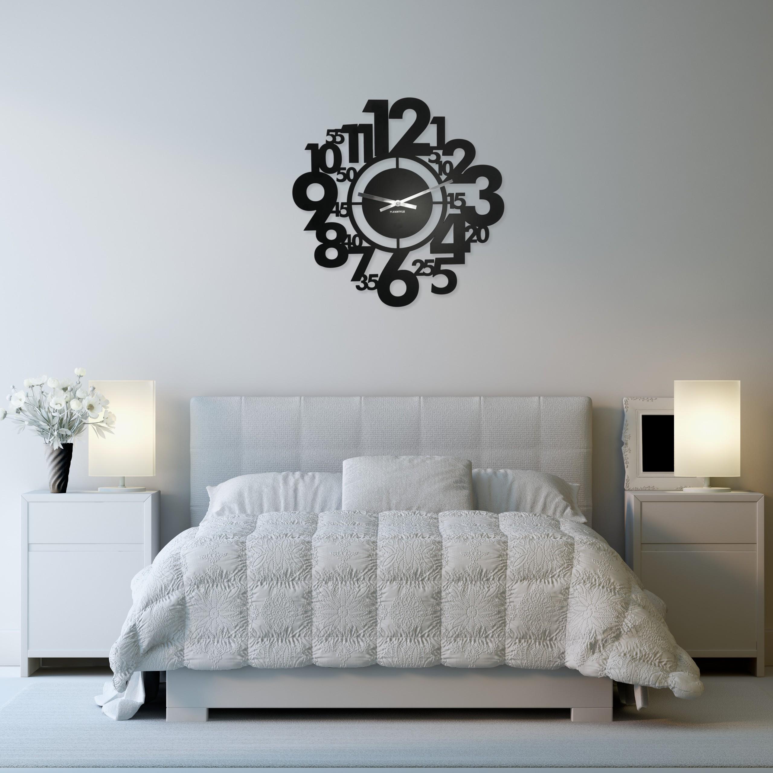DomTextilu Designové hodiny na stenu moderné 10702