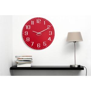 Dekoračné nástenné hodiny červené