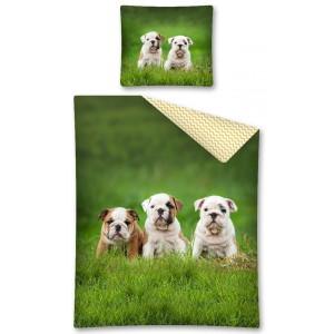Bavlnené obliečky so psíkmi obojstranné