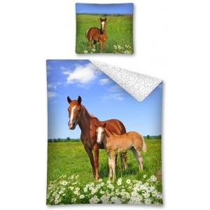 Obliečky pre deti s koňmi bavlnené
