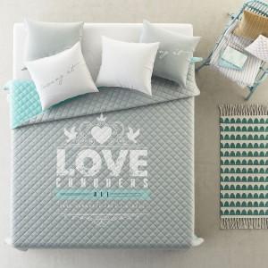 Obojstranný prehoz na posteľ LOVE