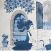 Luxusné prehozy na posteľ modrej farby