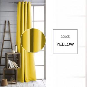 Jednofarebné závesy žlté